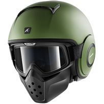 Shark - casque jet moto scooter Drak Raw Blank Matt Gma kaki mat S