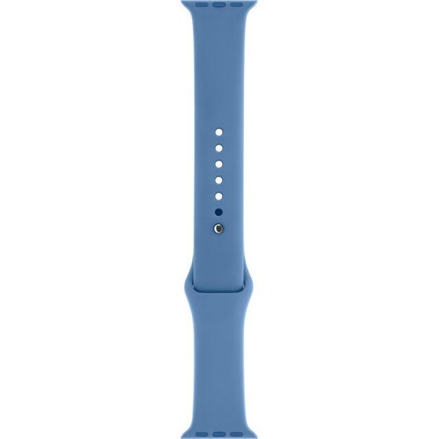 APPLE Bracelet Sport bleu jean 38 mm – S/M et M/L Bracelet Sport Apple Watch en fluoroélastomère - Fermoir à clou - Compatible avec boîtier 38mm