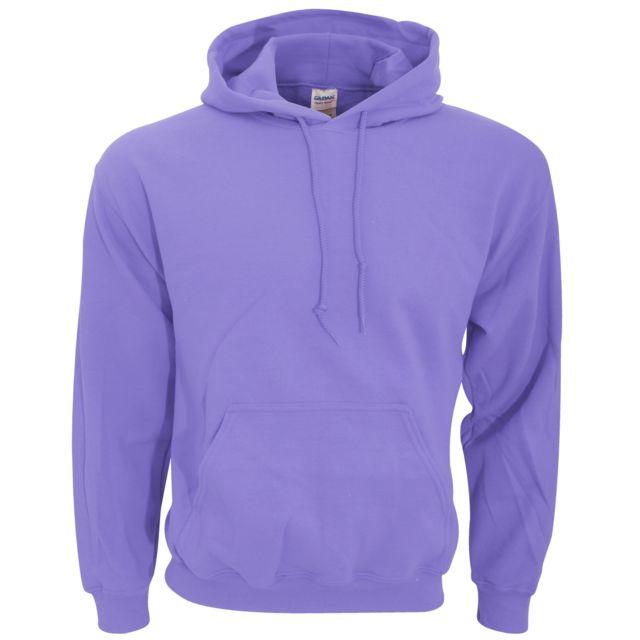 225b1a1bca34f Gildan - Sweatshirt à capuche - Homme L, Violet Utbc468 - pas cher Achat / Vente  Sweat homme - RueDuCommerce