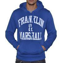 Franklin & Marshall - Franklin Marshall - Sweat à Capuche - Homme - Fm Sweat - Bleu Blanc