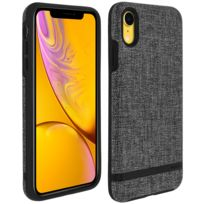 Incipio - Carnaby Coque iPhone Xr Bumper Ultra-fin Protection Antichoc - Gris
