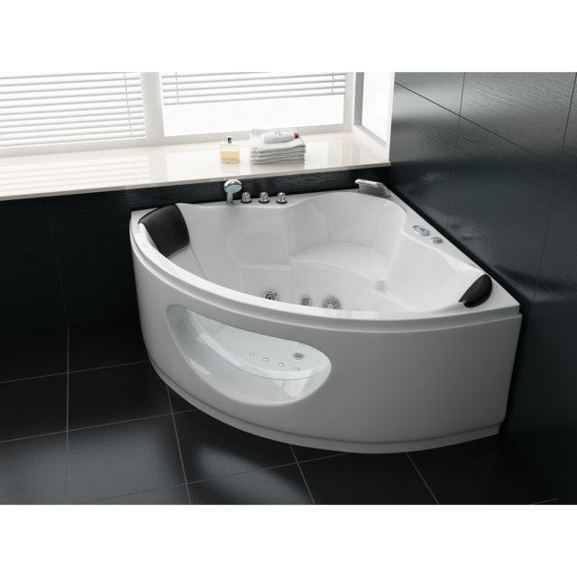 ouest balneo baignoire d 39 angle balneo 138x138 acrylique pur 138cm x 138cm pas cher achat. Black Bedroom Furniture Sets. Home Design Ideas