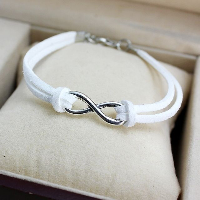bracelet cuir signe infini