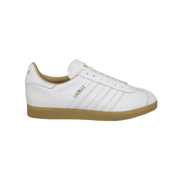 acheter en ligne a2b1a 7c299 Adidas originals - Chaussures Gazelle - White / Gold ...