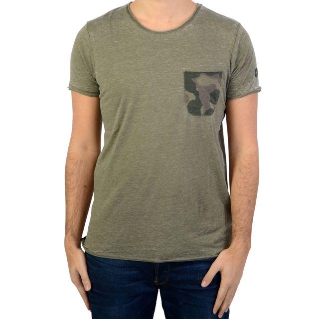 79d23d533c12 Le Temps des Cerises - Tee-Shirt Elias Vert - pas cher Achat   Vente Tee  shirt homme - RueDuCommerce