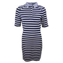80b073d8a8 Tommy hilfiger - Robe marinière bleu marine et blanche pour femme