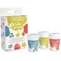 Scrapcooking - 3 Colorants-arômes alimentaires fraise-pomme-myrtille