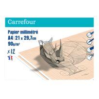 CARREFOUR - Papier millimétré - 21 x 29,7 cm