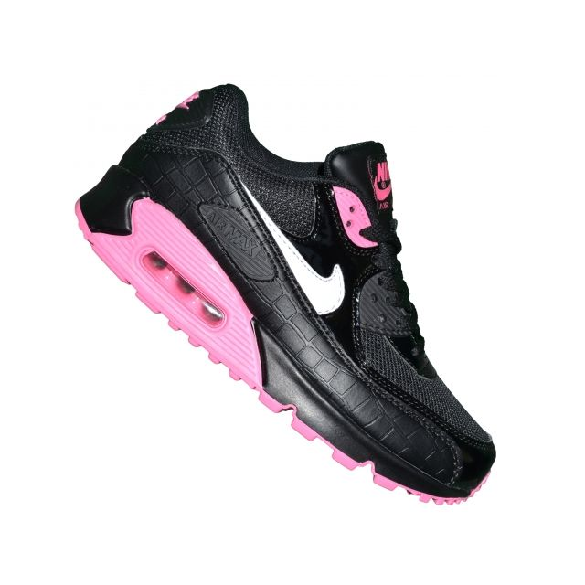 hot sale online ed8a0 7dce6 Nike - Basket - Femme Ou Junior - Air Max 90 99 - Noir Blanc Rose ...