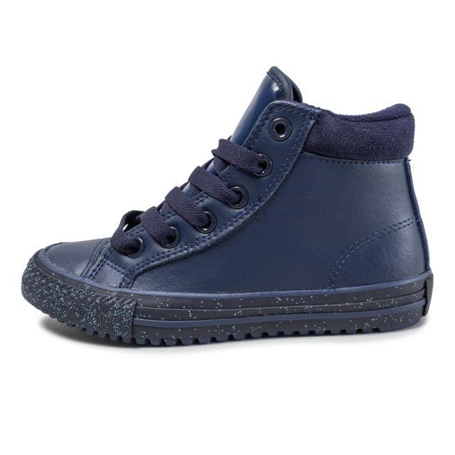 355e8e7a574da Converse - Chuck Taylor All-star Hi Boot Enfant Bleu Marine - pas ...