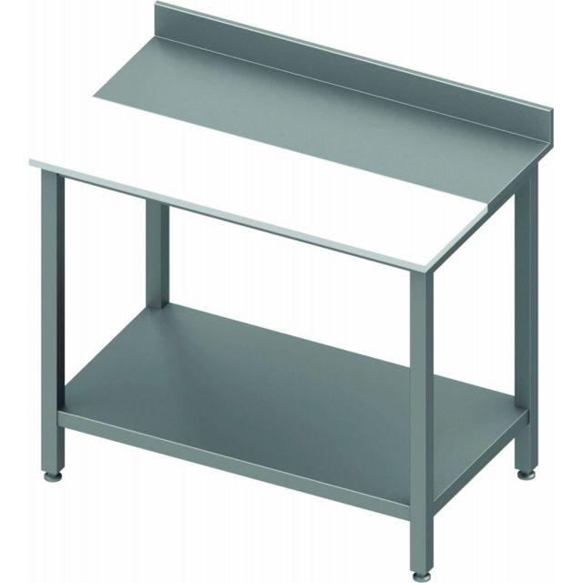 Materiel Chr Pro Table Inox de Cuisine - Avec Etagère - Profondeur 700 - Stalgast 800x700 700
