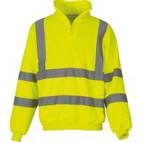 Yoko - Sweat-shirt de travail col zippé haute visibilité