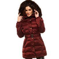 Arturo - Doudoune capuche ceinture élastique Taille Femme - 36, Couleur -  rouge a26a3a2658b