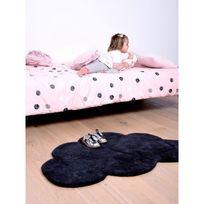 Lilipinso - Tapis Nuage gris anthracite chambre bébé garçon par - Couleur - Ecru, Taille - 64 x 100 cm