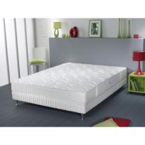SIMMONS - Ensemble Atlas Couchage Latex Sommier Pieds 90x200