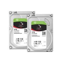 Lot de 2 disques durs interne ironwolf 3 to 3.5 '' 5900 rpm 64 mo serial ata 6 gb/s pour nas