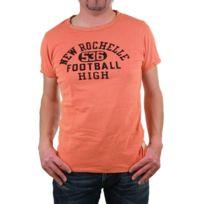 Scotch And Soda - Tee-shirt homme Scotch&SODA vintage orange