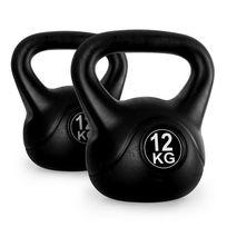 KLARFIT - Kettlebell set poids d'entrainement haltères 2x12kg