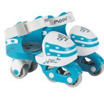 Moov Ngo - Rollers en ligne évolutifs et ajustables pointure 25/32 : Bleu