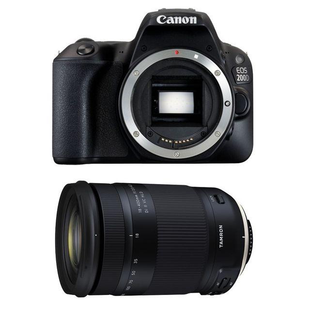 Canon Eos 200D + Tamron 18-400 f/3.5-6.3 Di Ii Vc Hld Garanti 3 ans