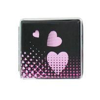 Smokepascher - Etui A 20 Cigarettes 85MM Alu - Coeur Rose Fond Noir