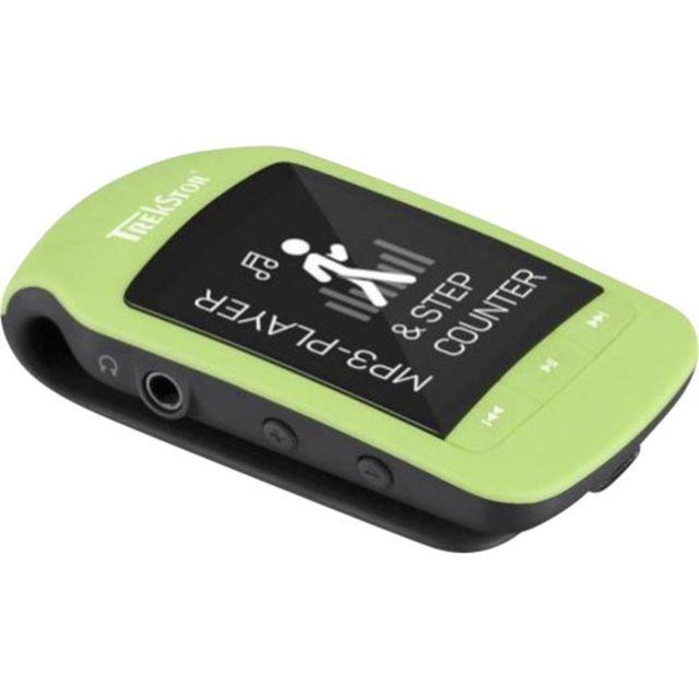 Trekstor Lecteur Mp3 i.Beat jump 8 Go gris Bluetooth podomètre Trekstor i.Beat jump Bt.Type : lecteur Mp3, mode de lecture : dossier, normal, répéter tout, répéter dossier, répéter un morceau, mix.Couleur du produit : noir, vert.Type de support : média Fl