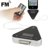 Wewoo - Transmetteur Fm noir pour iPhone 4 & 4S, 3GS / 3G, iPad 3 / 2 / Triangle Style 30 broches + 3,5 mm Jack 87,5 Mhz à 108 Mhz avec télécommande et Chargeur de voiture