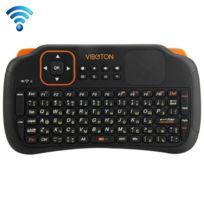 Wewoo - Pour Pc, Pad, Android / noir Google Tv Box, Xbox360, Ps3, Htpc / Iptv, Veille automatique de et mode de réveil & méthode de saisie russe S1 Air Mouse 83 touches Qwerty 2.4GHz Mini Rechargeable & 160 Clavier sans fil avec pavé tactile
