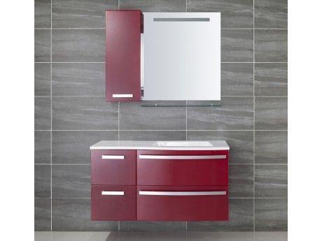 Vente-unique - Ensemble de salle de bain Nereide - meubles + vasque ...