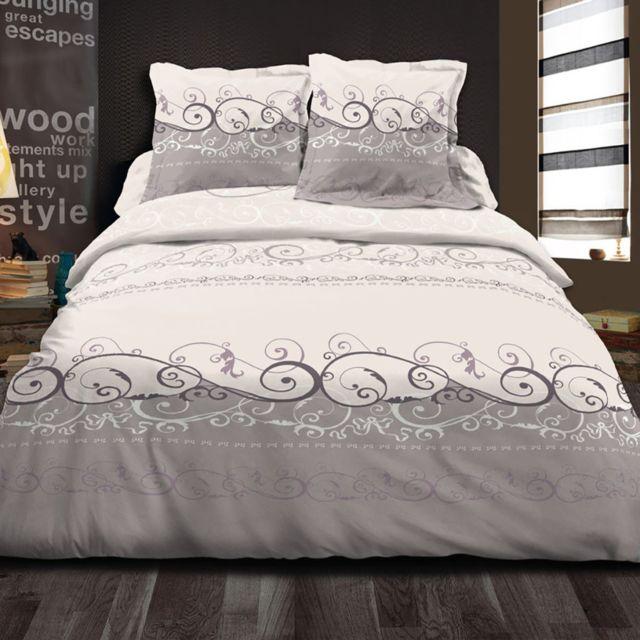 best interior parure de couette 100 coton voltaire beige housse de couette 200x200 cm. Black Bedroom Furniture Sets. Home Design Ideas