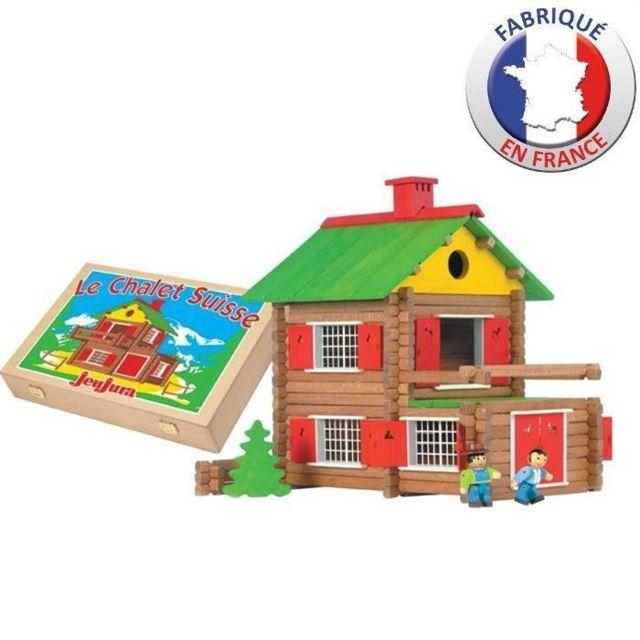 JEU D'ASSEMBLAGE - JEU DE CONSTRUCTION - JEU DE MANIPULATION - Mon Chalet en Bois 175 pieces Coffret en Bois