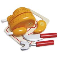 Alinéa - Poulet Poulet à découper avec matériel de découpe en bois pour enfant
