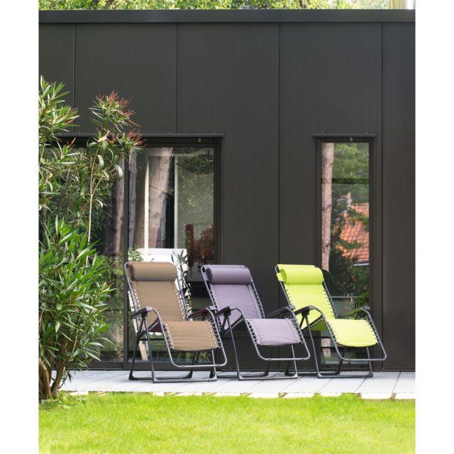 Relax Roma Uni. Dim.: L.83 x l.65,5 x H. 117,5 cm. Structure en acier. Armature anthracite, assise en polyester. Coloris