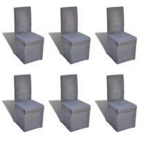 vida chaise de salle manger gris fonc pcs with chaise salle a manger grise - Chaise Salle A Manger Gris