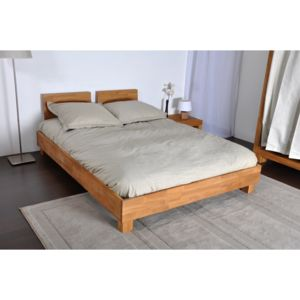 lit 140 x 190 cm t te de lit bois ch ne costa pas cher achat vente structures de lit. Black Bedroom Furniture Sets. Home Design Ideas