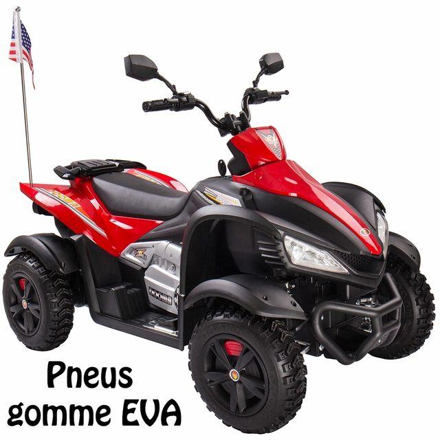 marque generique quad moto lectrique pour enfant 12 v pneus en gomme eva rouge haut de gamme. Black Bedroom Furniture Sets. Home Design Ideas