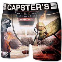 Capster'S Official - Boxer Homme Microfibre Baw Orange Noir