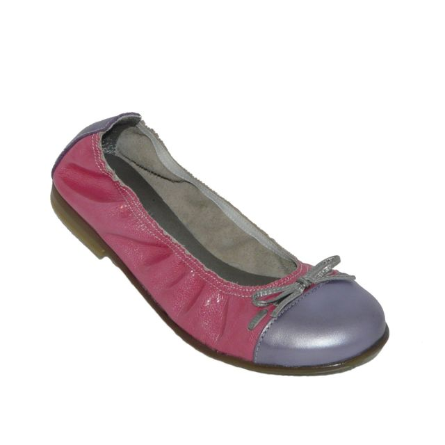Bopy - Ballerines chaussures fille confort Cuir rose  violet pointure 35 4fa1909a0645