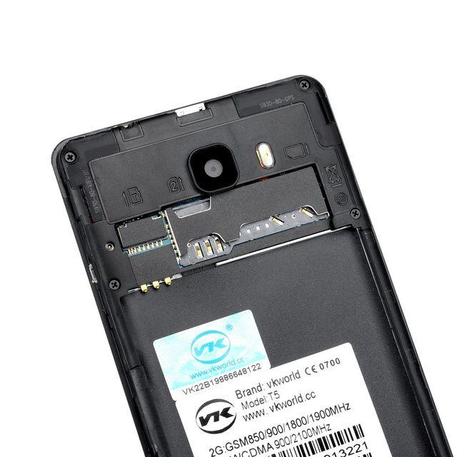 Auto-hightech Téléphone Smartphone 5 pouces, Android 5.1, Bluetooth 4.0, Capteur de mouvement, Réveil intelligent, Double sim gold