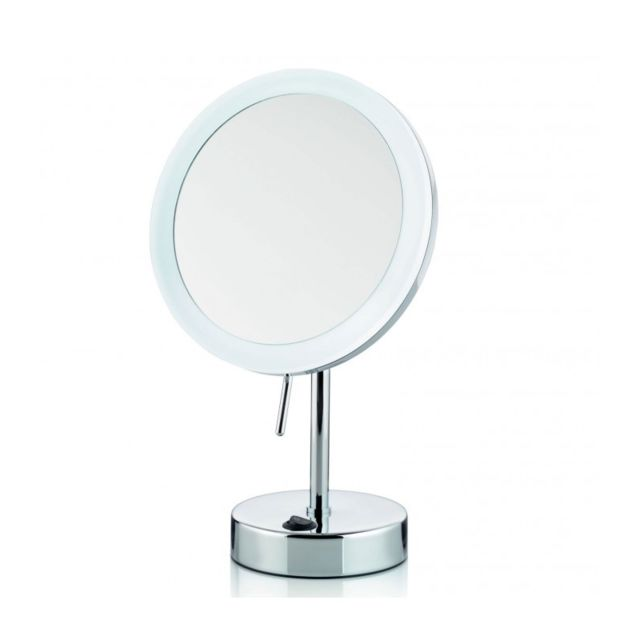 wadiga miroir grossissant x 5 lumineux led rond sur pied. Black Bedroom Furniture Sets. Home Design Ideas