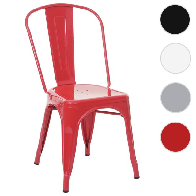 Rouge Métal Industriel Hwc De En Bistro MétalliqueEmpilable ~ Chaise A73Désign nm8wvON0