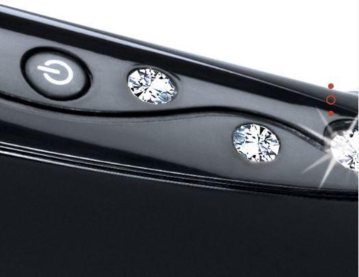 Lisseur Catwalk HS7230- Céramique & Kératine - Noir, 4 cristaux swarovski
