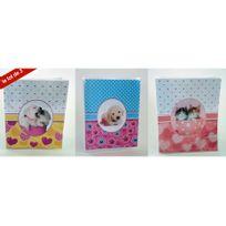 Ariane - Lot de 3 minis Albums photos souple chat et chien 32 pochettes 10x15 cm