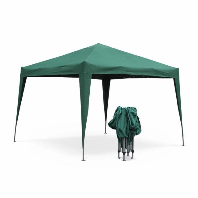 Tonnelle pliante 3 x 3 m - Tecto Vert - Tente de jardin pop up, pergola  pliable, barnum, chapiteau, tente de réception, pavillon 9m²