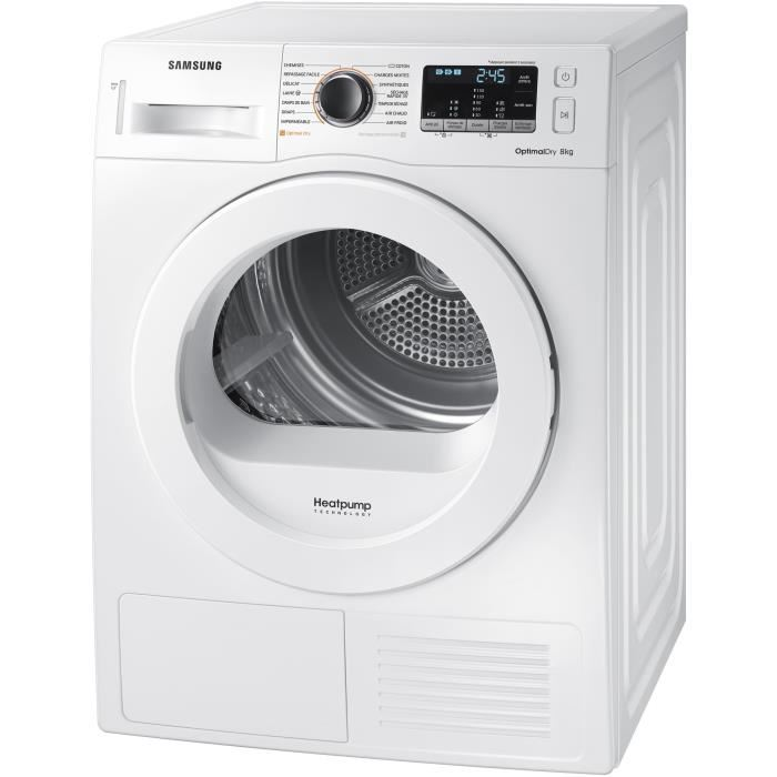 samsung s che linge condensation dv80m50131w blanc achat s che linge condensation a. Black Bedroom Furniture Sets. Home Design Ideas