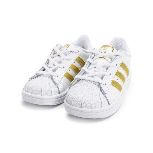 adidas superstar dore et blanche