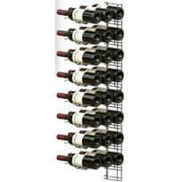 Visiorack - Support mural chromé pour 24 bouteilles de 75cl - Bouteilles horizontales - Chrome Aci-vis404