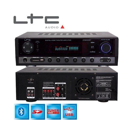 Ltc Atm6500BT Amplificateur Karaoké Hi-Fi avec Fm 2 x 50 W/3 x 20W