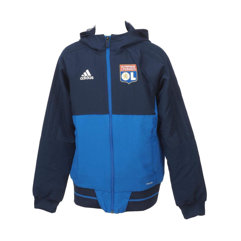 ADIDAS- Vestes replica officielle Ol veste jr capuche lyon Bleu 74769