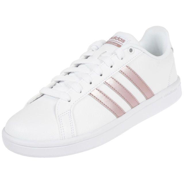 Adidas Chaussures mode ville Cf advantage w ftwwht Blanc